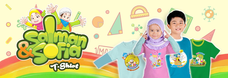 Salman Sofia : Kaos Anak Muslim Branded : Kaos Learn & Explore