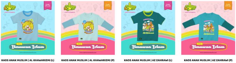 Kaos Anak Muslim : Salman Sofia