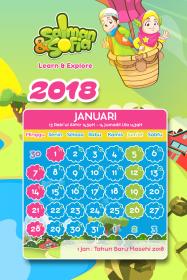 kalender tahun 2018 salman sofia januari