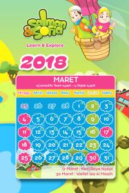 kalender tahun 2018 salman sofia maret