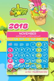 kalender tahun 2018 salman sofia november