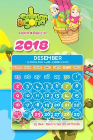 kalender tahun 2018 salman sofia desember