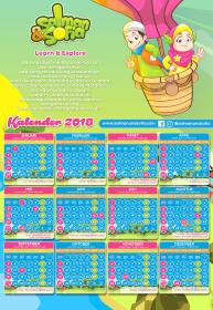 kalender indonesia tahun 2018 dinding salman sofia